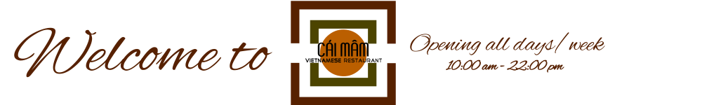 Cai Mam authentic Vietnamese restaurant in Hanoi